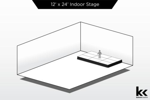 12'x24' Indoor Stage Rental