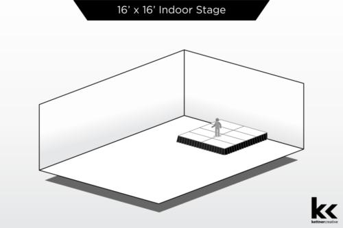 16'x16' Indoor Stage Rental