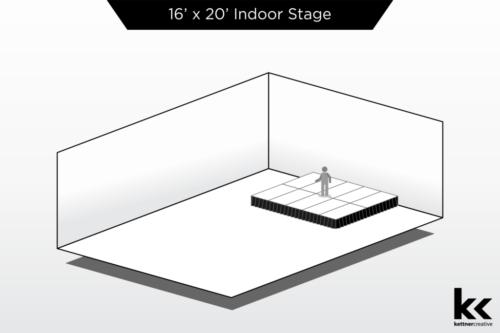 16'x20' Indoor Stage Rental