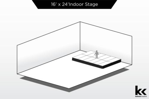 16'x24' Indoor Stage Rental