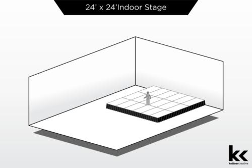 24'x24' Indoor Stage Rental
