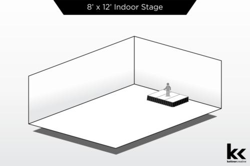 8'x12' Indoor Stage Rental