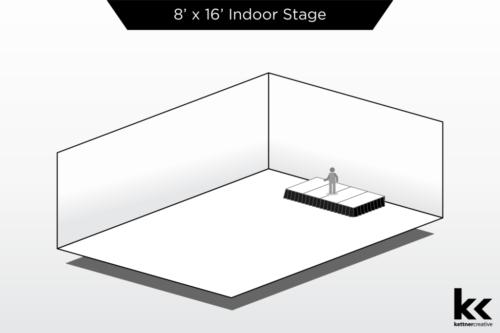 8'x16' Indoor Stage Rental