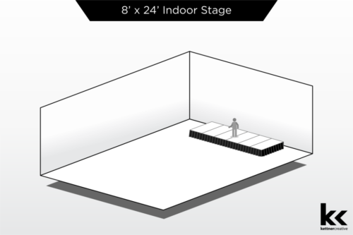 8'x24' Indoor Stage Rental