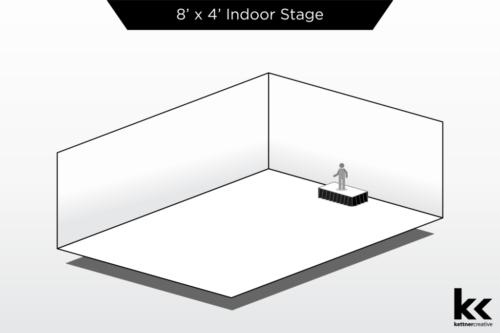 8'x4' Indoor Stage Rental
