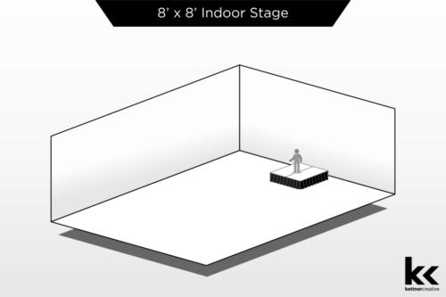8'x8' Indoor Stage Rental