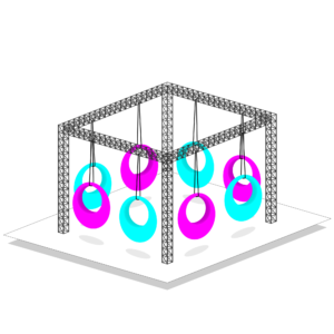 8 led swing cube package