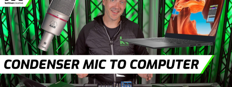 Connect Condenser Mic To Computer